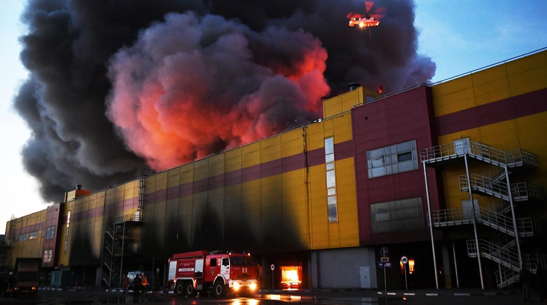 Действия при пожаре в торговом центре