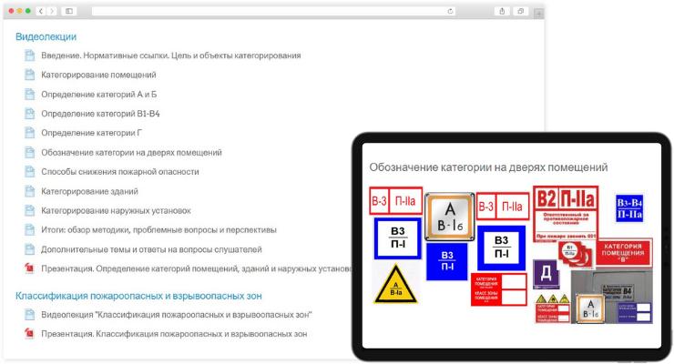 Онлайн-курс для начинающих «Категорирование помещений, зданий и наружных установок по взрывопожарной и пожарной опасности»